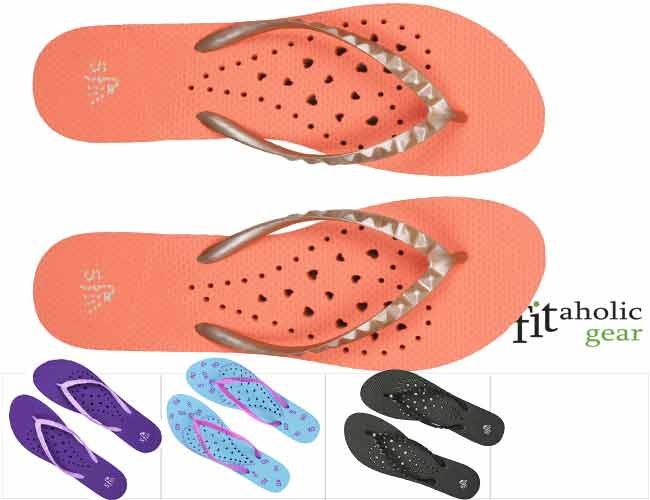 cdaaf3a9189 Showaflops Women s Antimicrobial Shower   Water Sandals  for gym